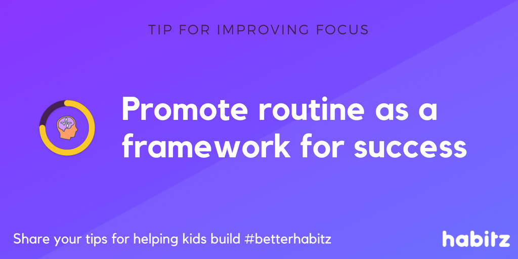 Promote routine as a framework for success