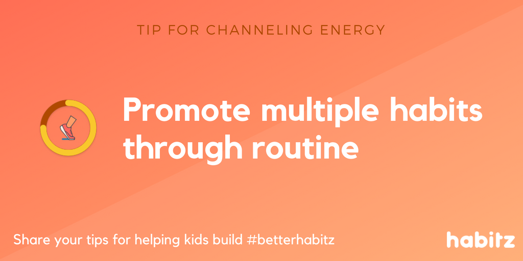 Habitz promote multiple habits through a routine